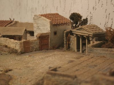 Фрагмент макету причорноморського поселення-колонії греків у V-III ст до н. е.