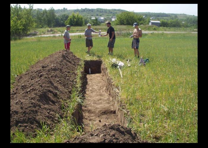 Розкопки проведені Київським обласним археологічним музеєм у 2003 р., с. Щербанівка, ур. Липове