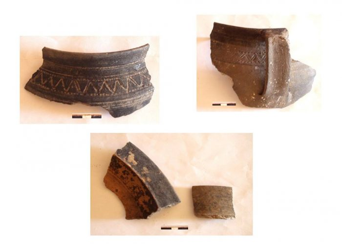 Фрагменти керамічних виробів ХVІІ ст з с. Трипілля