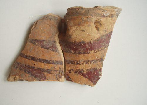фрагмент трипільської кераміки з ур. Липове, з розкопок 2003 року