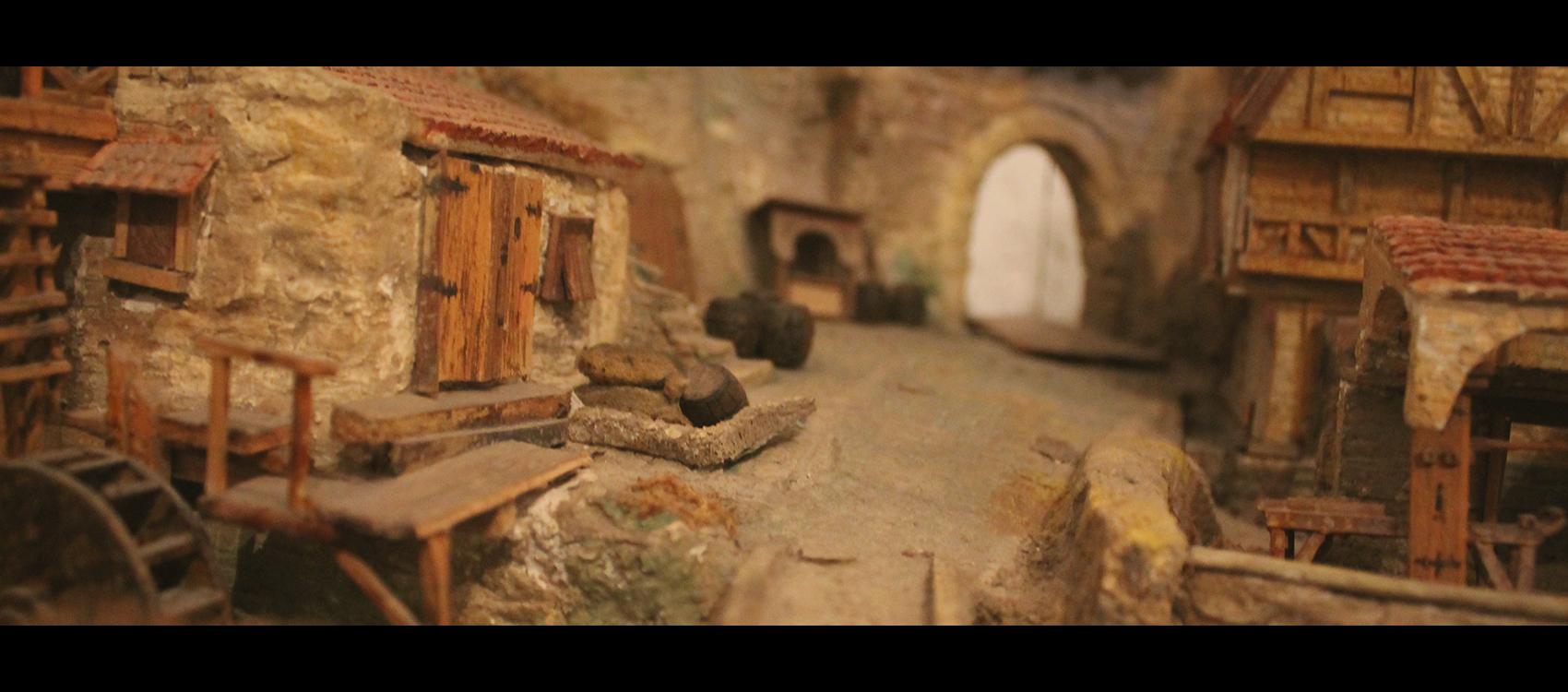 Фрагмент макету замка XVI-XVII ст на Правобережжі України. Трипільський замок